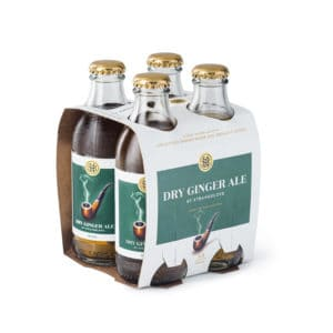 4 pack of Strangelove Dry Ginger Ale pictured