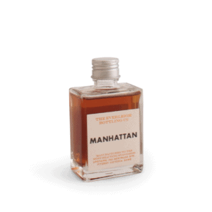 Manhattan in glass bottle