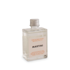 Martini in glass bottle